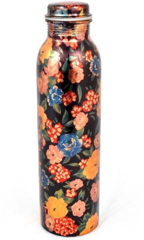 Artandcraftvilla Copper Water Bottle Joint Free 900 ml Bottle(Pack of 1, Multicolor)