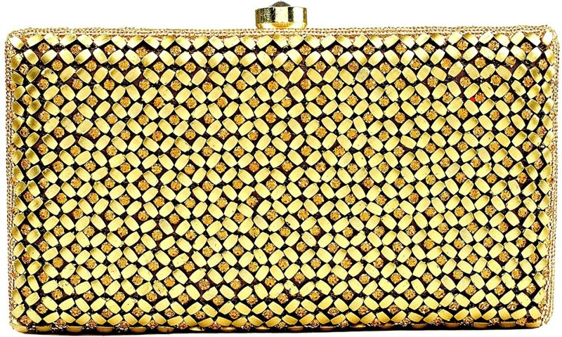The Indian Handicraft Store Casual Gold Clutch