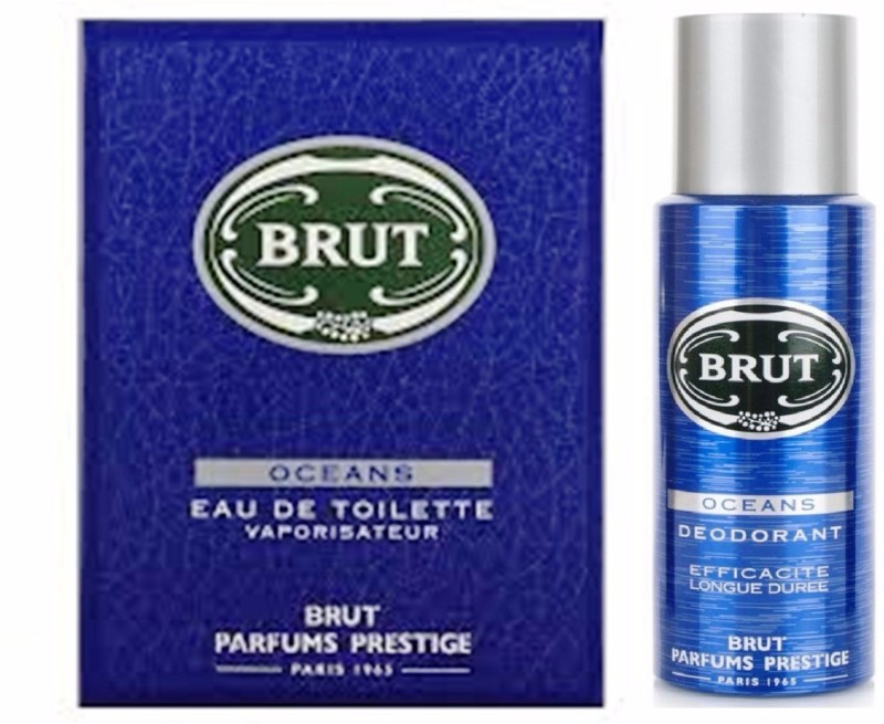 Brut Oceans Deodorant + Parfums Deodorant Spray - For Men(300 ml, Pack of 2)