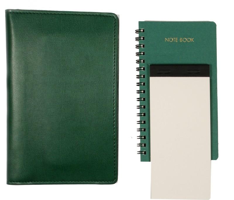 Sukeshcraft Mini Notebook(Phone- Notebook-PenHolder-Card Holder, Bottle Green, Pack of 3)