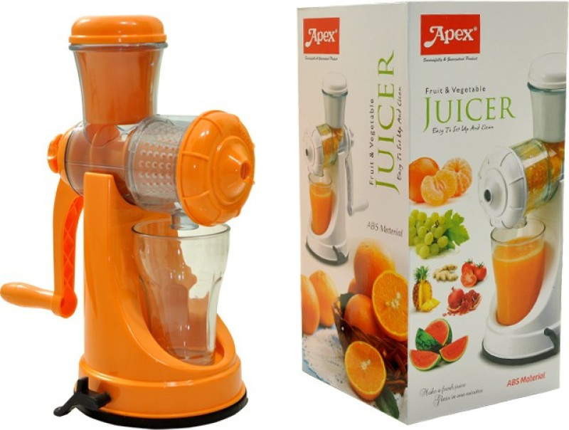 Apex Fruit and Vegetable Plastic Hand Juicer(Multicolor, Orange, Green Pack of 1)