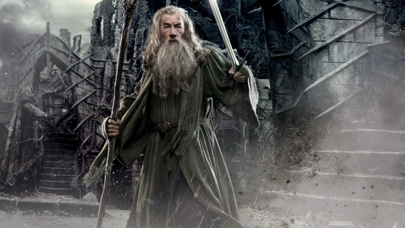 Akhuratha Wall Poster-Gandalf-The-Hobbit-The-Desolation-of-Smaug-Ian-McKellen Paper Print(12 inch X 18 inch, Rolled)