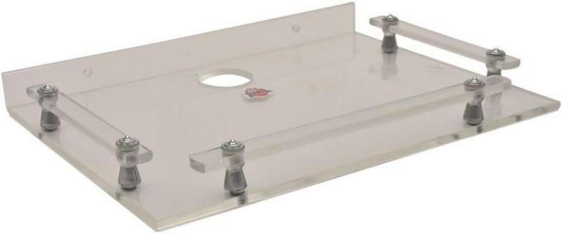 Flanker Plastic & Aluminium Setup Box Stand Plastic, Acrylic Wall Shelf(Number of Shelves - 1, White)