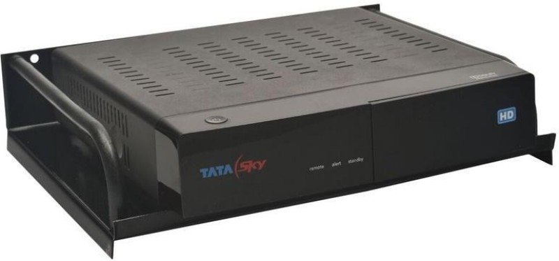 Flanker Plastic & Aluminium Setup Box Stand Plastic, Acrylic Wall Shelf(Number of Shelves - 1, Black)