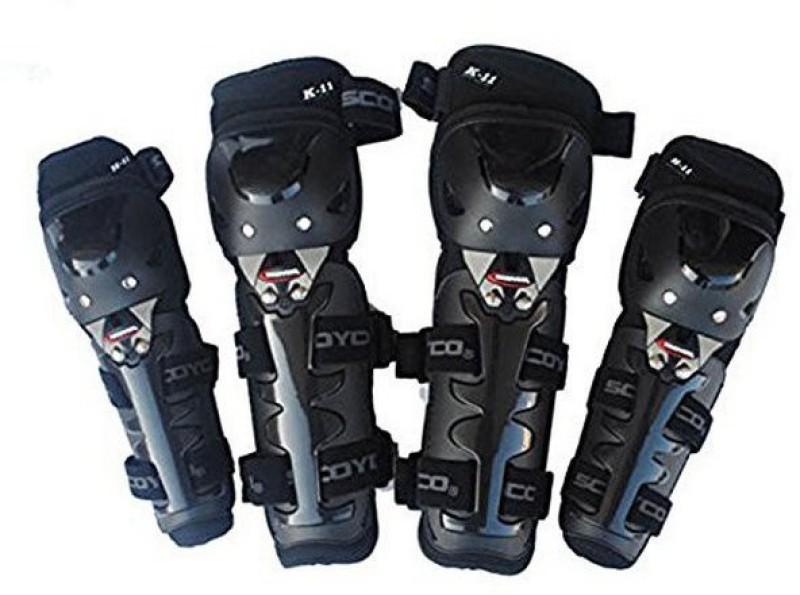 Scoyco Premium Quality Knee & Elbow Guard (K11) Knee Guard, Elbow Guard L Black(Pack of 1)