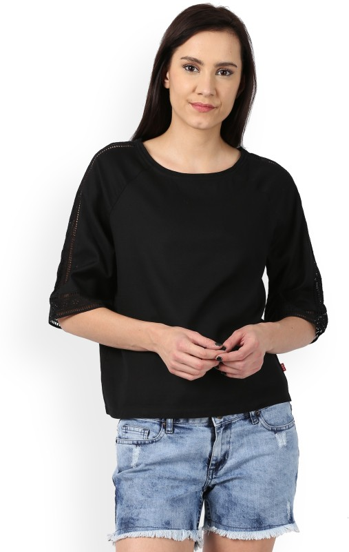 Levis Womens Solid Casual Shirt
