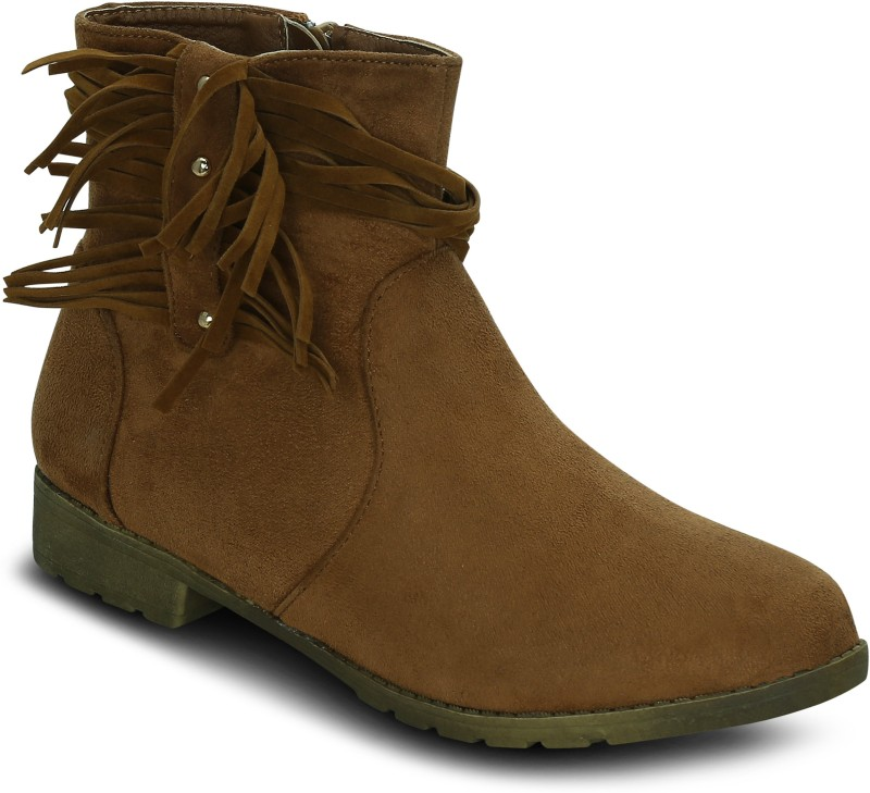 Get Glamr Zia Boots For Women(Tan)