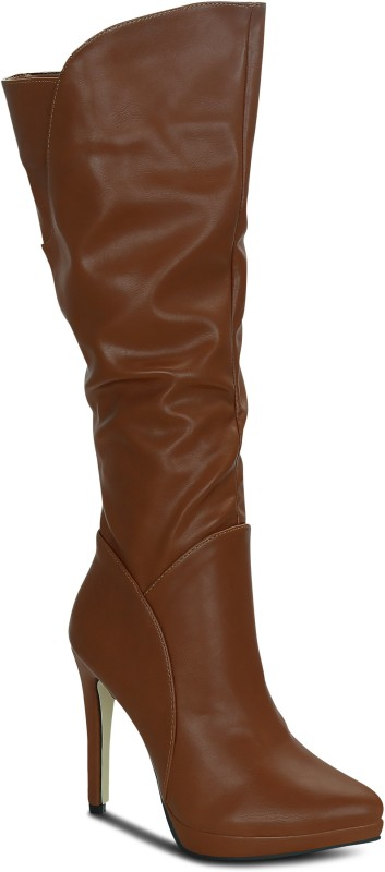 Get Glamr Michelle Boots For Women(Tan)