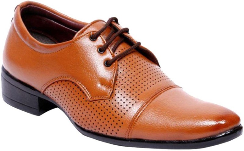 "Aadi AADI MEN""S TAN NEW LOOK FORMAL BROGUES Derby For Men(Tan)"