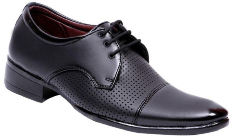 "Aadi AADI MEN""S BLACK NEW LOOK FORMAL BROGUES Derby For Men(Black)"