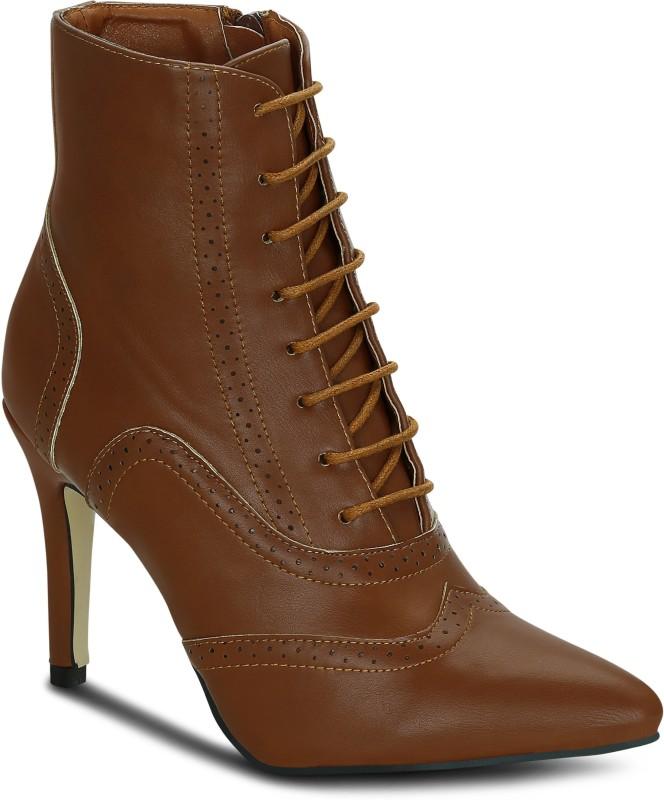 Get Glamr Lexa Boots For Women(Tan)
