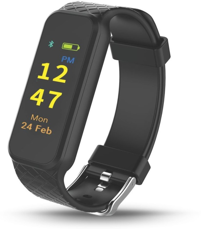 Portronics POR-799 Fitness Smart Band(Black Strap, Size : Flexible size)