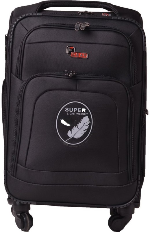 F Gear Crew Expandable Check-in Luggage - 24 inch(Black)