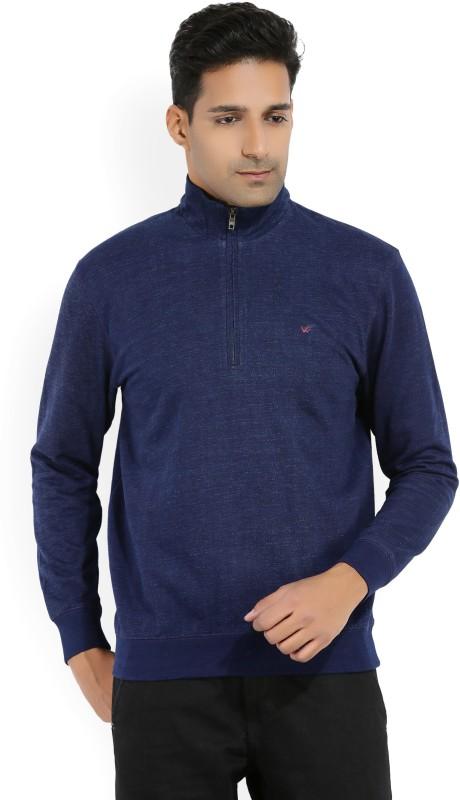 Wills Lifestyle Full Sleeve Solid Mens Sweatshirt