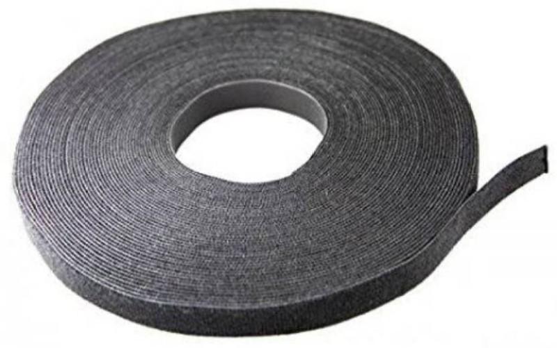 TRIS Velcro Tape Roll (Hook & loop) 5 Mts * 25 Mm (1 inch width) Sew-on Velcro(Black)