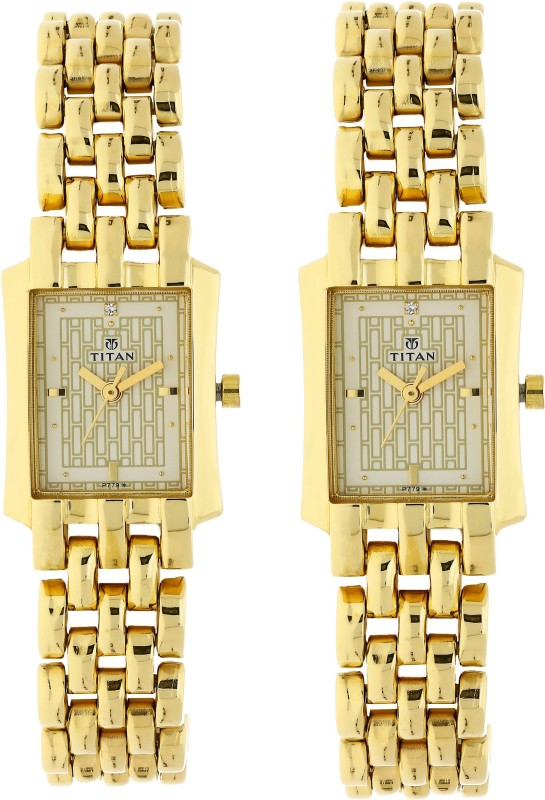 Titan NH19272927YM02 Bandhan Analog Watch - For Couple