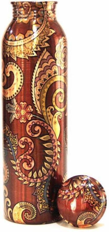 Artandcraftvilla Copper Water Bottle 900 ml Bottle(Pack of 1, Multicolor)
