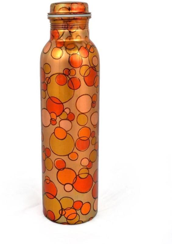 Artandcraftvilla Copper Water Bottle Leak Proof 900 ml Bottle(Pack of 1, Multicolor)