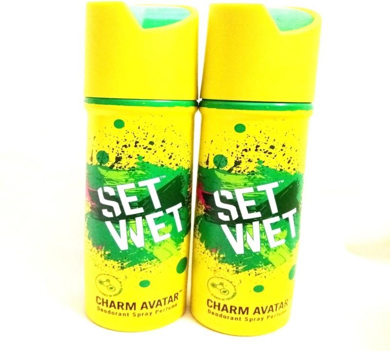 Set Wet Charm Avatar Deodorant Spray - For Men(300 ml, Pack of 2)