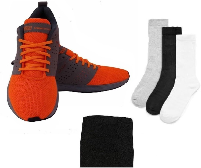 SEGA Combo of Three, One Pair of 'Extro' Shoes (Size-13), One Wrist Band and Three Pair of Socks (Color on availability)- Home Gym Kit