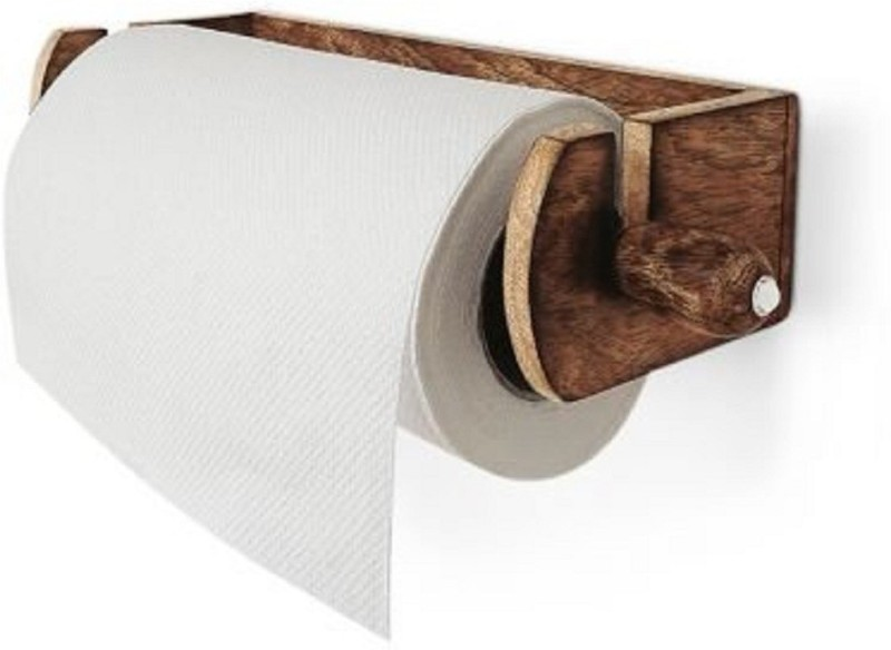 JVS Kitchen Roll Holder Wall Wood-EN -103 Multicolor Napkins