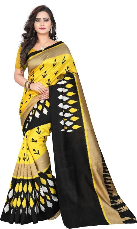 Gugaliya Printed Bhagalpuri Art Silk Saree(Multicolor)