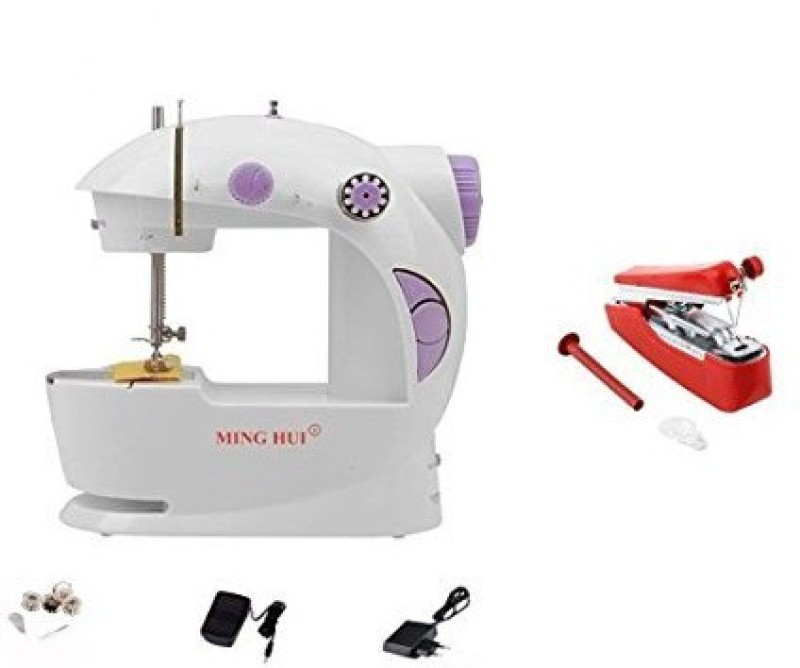 Bluebells India ™stapler silai machine & ming hui 4-In-1 Powerstitch Portable Electric Electric Sewing Machine( Built-in Stitches 1)