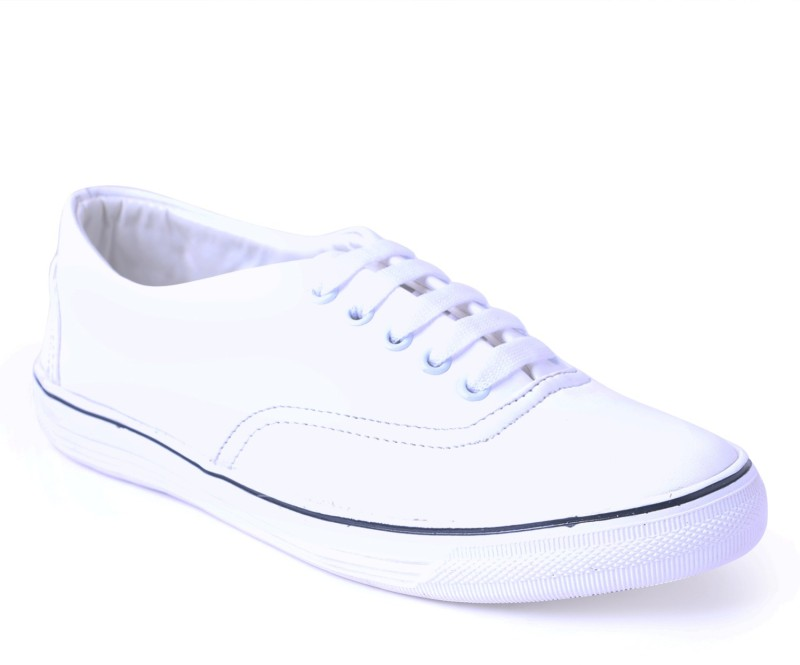 Shoe Mate White Casual Shoes Casuals For Men(White)