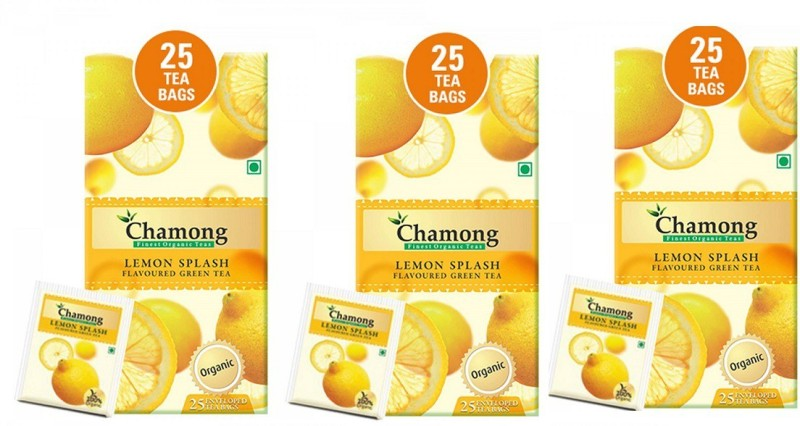 CHAMONG LEMON GREEN TEA Lemon, Lime Green Tea Bags(75 Bags, Box)