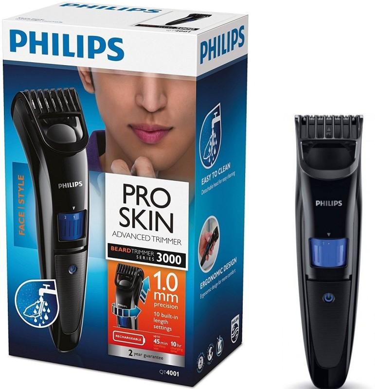 Philips PRO SKIN ADVANCED {QT4001/15} Cordless Trimmer for Men(Black)