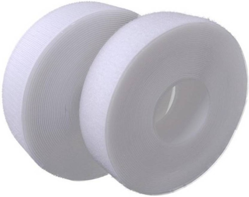 TRIS Velcro White Tape Roll (Hook & loop) 5 Mts * 25 Mm (1 inch width) Sew-on Velcro(White)