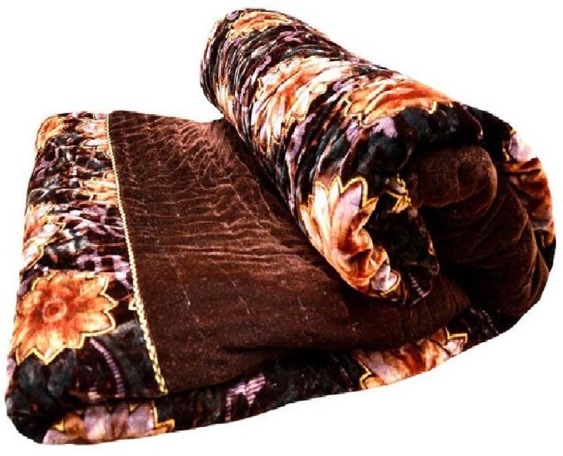 MONAS Floral Double Quilt Multicolor(Mink Blanket, 1 Double bed Jaipuri Razai)