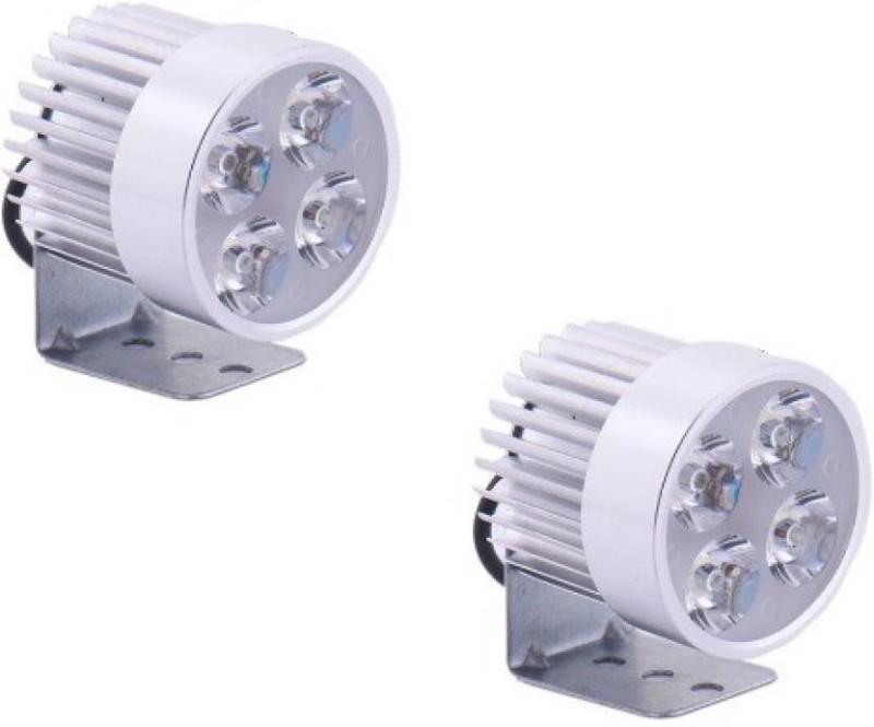 A R 4W Motorcycle Headlight Motorbike Spotlight Car Fancy Lights(Silver)