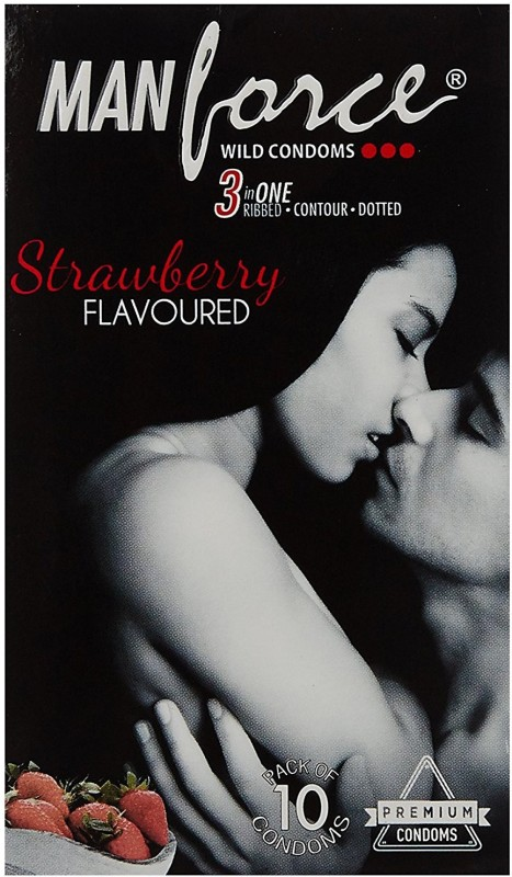 Manforce M Strawberry 10 Condom(Set of 10, 10S)