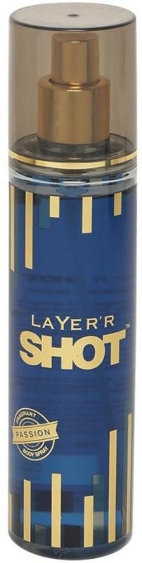 Layerr Shot Passion Body Spray - For Men(135 ml)