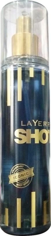 Layerr Shot Iconic Body Spray - For Men(135 ml)