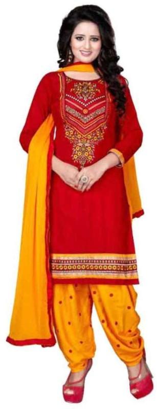 FastColors Crepe Floral Print Salwar Suit Dupatta Material(Un-stitched)
