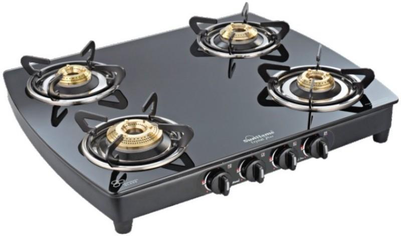 Sunflame Plus 4b BK Ai Steel Automatic Gas Stove(4 Burners)