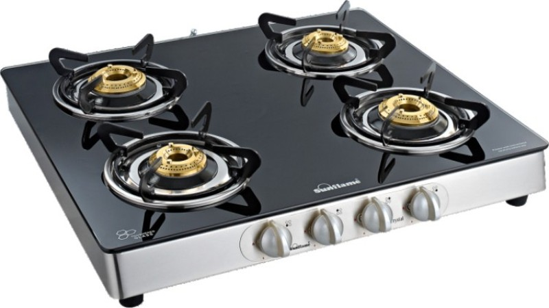 Sun Flame Stainless Steel Automatic Gas Stove(4 Burners)