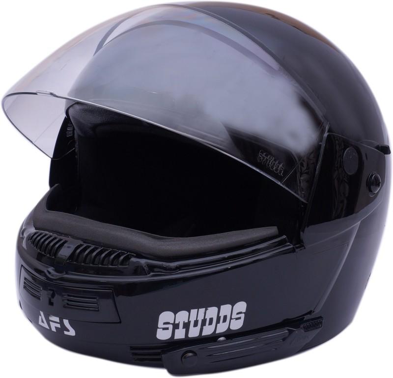 Studds Ninja Pastel Plain Motorsports Helmet (Black) Motorbike Helmet(Black)