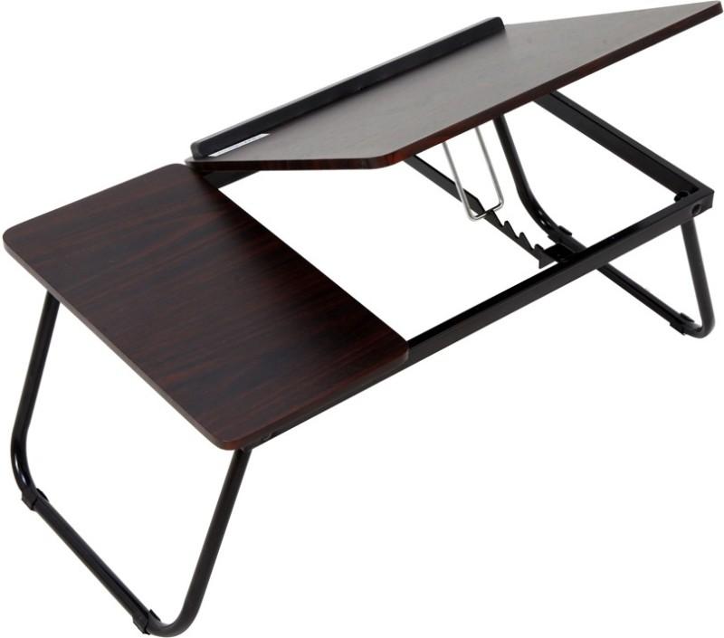 TidyHomz Brisbane Laptop Table- Dark Brown Wood Portable Laptop Table(Finish Color - Dark Brown)
