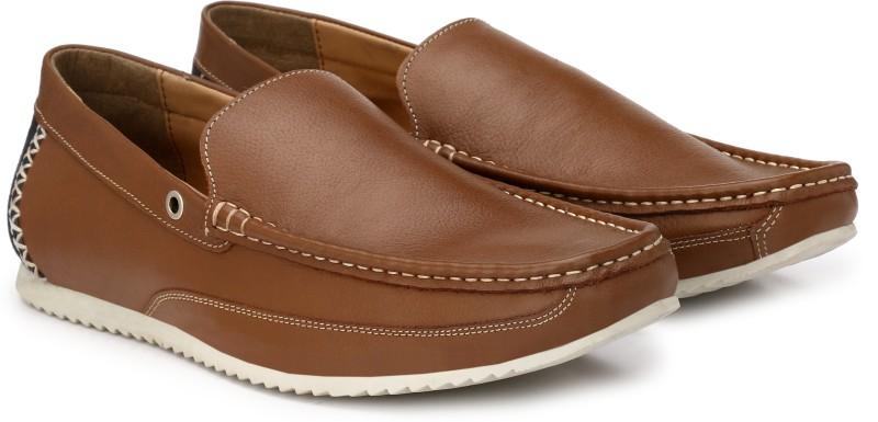 Andrew Scott Genuine Premium Leather Loafers For Men(Tan)