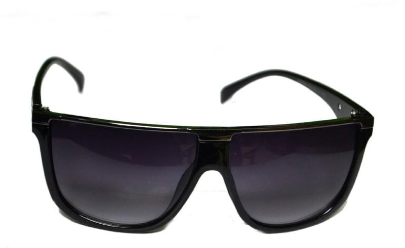 BULL-i Retro Square Sunglasses(Black) image