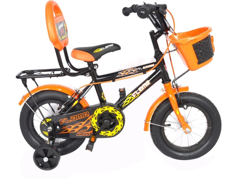 Kross Flame Sporty 2018 Bike For Kids Age Of 2-4yrs 12 T Single Speed Recreation Cycle(Multicolor)