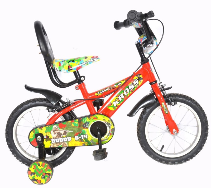 Kross Buddy Sporty 2018 Bike For Kids Age of 3-5yrs 14 T Recreation Cycle(Single Speed, Multicolor)