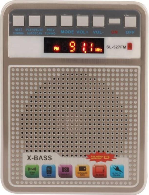 CRETO latest portable fm supports usb ,micro sd card bluetooth FM Radio(silver white)