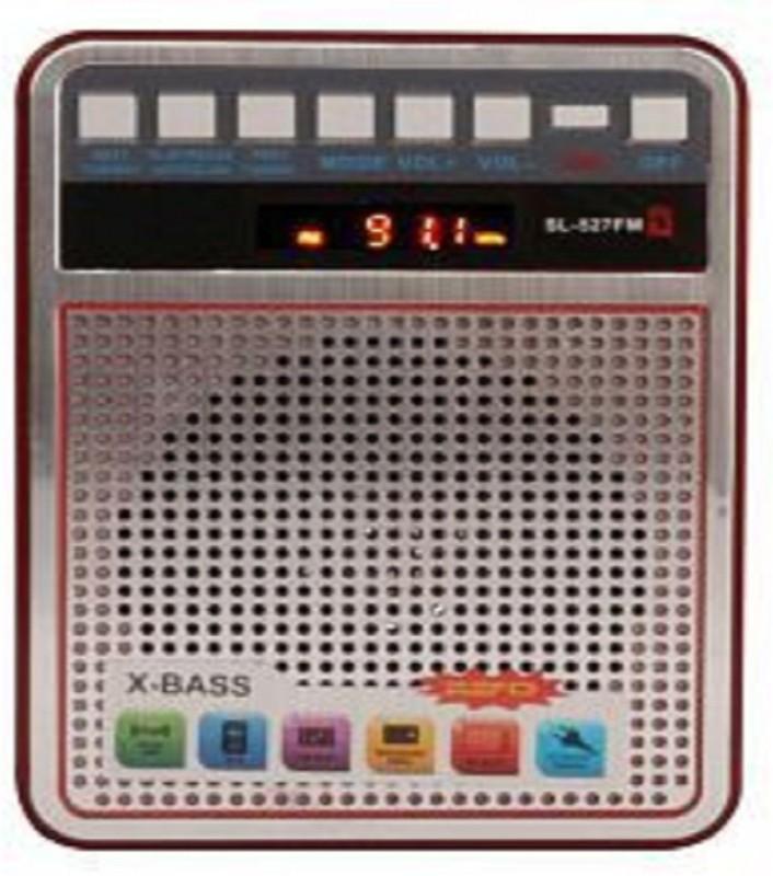 CRETO latest portable fm supports usb pendrive , microsd card, bluetooth FM Radio(Silver)