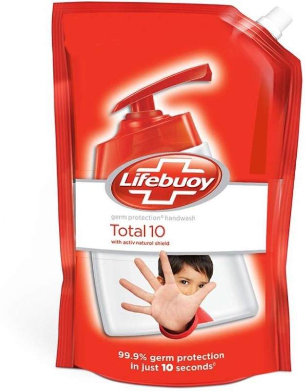 Lifebuoy Total 10 Hand Wash Refill(750 ml, Pouch)