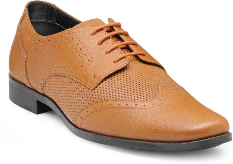 FRANCO LEONE 15043 Lace Up For Men(Tan)