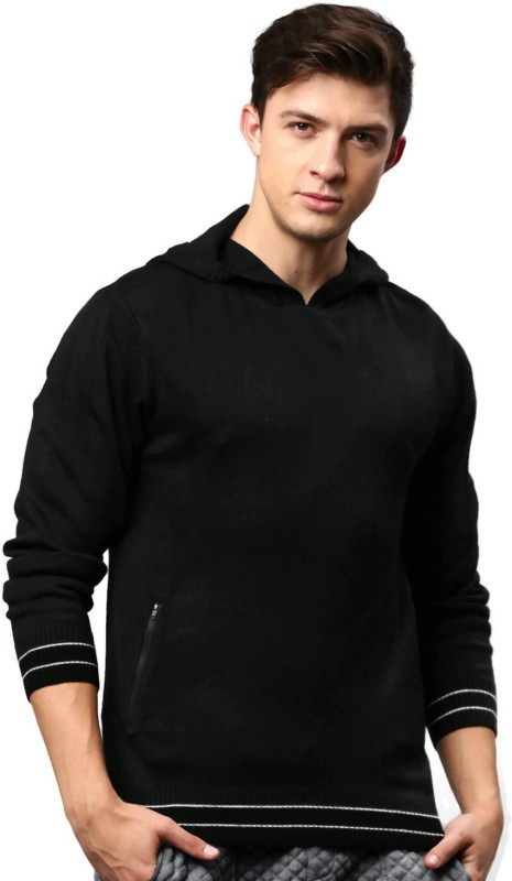 HRX by Hrithik Roshan Solid Round Neck Casual Men Black Sweater